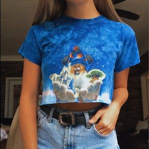 Vintage Mickey Mouse Crop Top Shirt